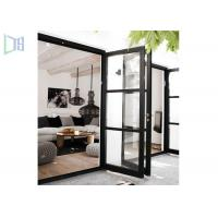 Outside and Inside Openable Aluminium Swing Door 15mm Thickness Manufactures