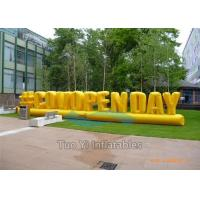 Quality Outdoor Activity Inflatable Letter Decoration / Advertising Inflatables Wind for sale