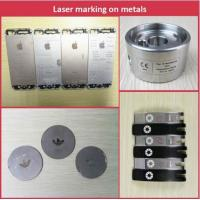 Quality 20W fiber laser rotating marking machine for pipe and round tube marking for sale