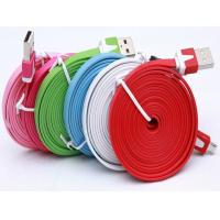 Buy cheap 1M 3m data cable Noodle Flat USB 2.0 usb cable usb charging cables for iphone 5 from wholesalers