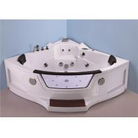 Quadrant Shape Corner Whirlpool Bathtub For Small Bathroom ABS Material Manufactures