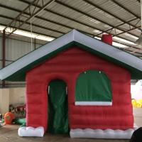 Quality Red Mini Oxford  Inflatable Christmas House for Christmas  Decoration for sale