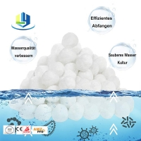 Fiber Balls Washable Sand Polyester Water Filter Media For Wastewater Manufactures