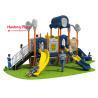 Kids Outdoor Playground Slides , Cartoon Plastic Playground Slide 850*590*420cm for sale