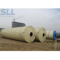 150t Bulk Cement Tank Semi Trailer / Mobile Cement Silo For Concrete Batching Plant Manufactures