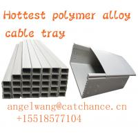 Plastic Electrical Wire Trough Straight Polymer Alloy Cable Tray, silver color 100 mm width cable tray Manufactures