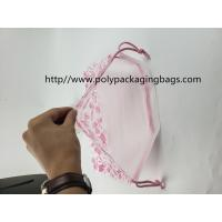 Cosmetics Clothing Digital Small Plastic Drawstring Bags Gift Wrap With Logo Print Manufactures