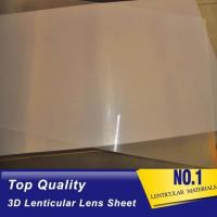 High quality 51X71CM 0.25MM PET Lenticular Lens Film sheet lenticular lenses  for 3d lenticular printing service Baharin Manufactures