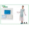 Waterproof Disposable Lab Coats , Transparent Plastic PE disposable visitor coats Manufactures