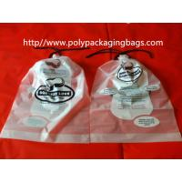 Garment / Pillow Packaging Poly Bag Clear Drawstring Plastic Bags Manufactures