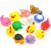 Floating Baby Rubber Bath Toys Animal Shape 12 Pcs Harmless Gifts For Children Manufactures