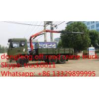 Quality dongfeng 4*4 knuckle boom mounted on truck, hot sale dongfeng truck with crane for sale
