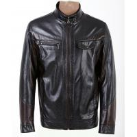 Size 54, Size 56, Black / Dark Red / Coffee Fleece Lined PU Leather Jacket for Charm Men Manufactures