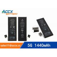 ACCX brand new high quality li-polymer internal mobile phone battery for IPhone 5G with high capacity of 1440mAh 3.7V Manufactures