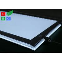 Removable LED Light Box For Crystals , Magnetic Cover LED Slim Crystal Frame Light Box Manufactures