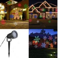 LED Light Moving Snowflake Landscape Laser Projector Lamp Outdoor Garden Xmas Manufactures