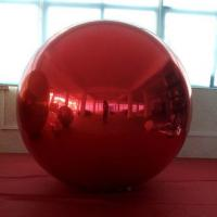 Red Inflatable Advertising Air Balloons Mirror Ball With Air Pump For Wedding / Event Manufactures