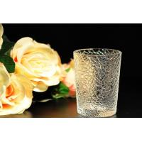 8oz decorations clear candle holders , glass candle cups Leaf Pattern Manufactures