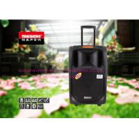 Black Portable Trolley Audio Box Speaker With USB / SD / FM / Bluetooth Function Manufactures
