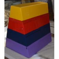 Non Toxic Gym Pommel Horse / Trapezoid Vaulting Box 120-110-90cm Size Manufactures