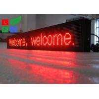 Quality IP65 Waterproof LED Scrolling Sign Red Color USB / U-disk Control For Shop Facade Sign for sale