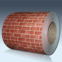 Brick Pattern Color Coated Steel Coil For Exterior Wall Panels ISO Approval Manufactures