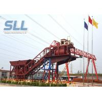 Mobile Ready Mix Concrete Plant / Portable Cement Plant Customized Color Manufactures