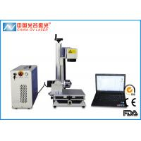 China Metal Tube and Steel Cup Fiber Laser Marking Machine with 80mm Rotary Device on sale