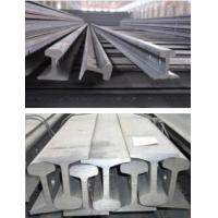 Quality P38 P20 Heavy Steel Crane Rail for Overhead Crane , 114 MM Bottom Width for sale