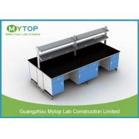 Bacteriostatic Hospital Lab Furniture Lab Island Table For Clean Room C Frame Manufactures