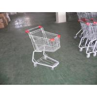 Plastic Supermarket Folding Shopping Carts With Swivel Casters Manufactures