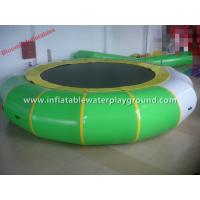 Indoor Inflatable Water Trampoline Water Toy , Inflatable Aqua Bouncer With Pad Manufactures