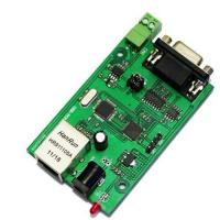 China RS232 RS485 to ethernet serial to Ethernet server module converter on sale
