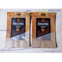 Snack Food Packaging Poly Bags , Laminated Brown Craft Paper Bags Manufactures