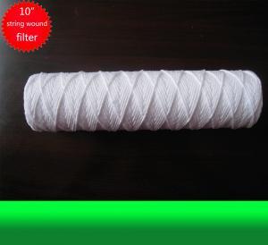 10 Inch Water Filter Cartridge White PP Yarn String Wound Filter Cartridge Manufactures