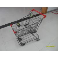 Quality 45L Red Palstic Supermarket  Shopping Cart For Popular Small Shop for sale