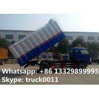18cubic meters bulk grains farm delivery truck for sale, best price bulk grains self-sucking discharging van truck Manufactures