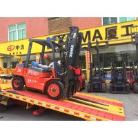 Diesel Power 4 Wheel Forklift Truck , High Capacity Forklift 3000mm Lifting Height Manufactures