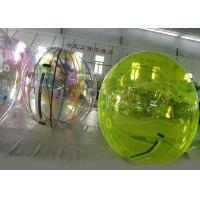 Green Water Walking Ball , Inflatable Water Ball For Amusement Park Manufactures