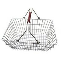 Low Carbon Steel Hand - Held Metal Shopping Baskets With Handles 20 Liter Manufactures