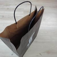 Cheap Price Twisted Handled Paper Shopping Bag Custom Logo Print Manufactures