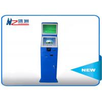 Indoor / Outdoor Coin Counting Kiosk Billing And Paymen All In One Computer , Blue Manufactures