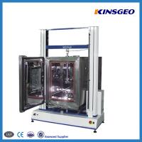 1000KN Tensile Testing Tester , Double Pole PVC Testing Equipment with Speed 0.1-500mm/min Manufactures