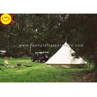 EN1790 100% Cotton Canvas Luxury Bell Tent 5m Zipperd Door For Camping Manufactures