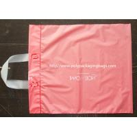 Pink Side Gusset Plastic Hanger Bags Large Size For Gift / Grocery Shopping Manufactures