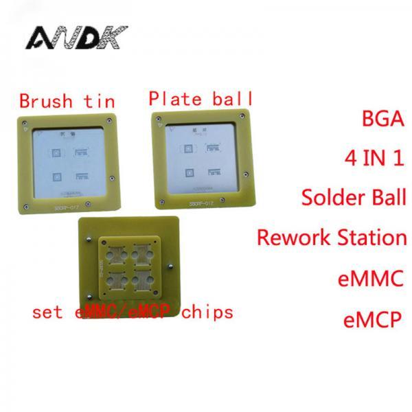 Quality eMMC/eMCP Reballing stencil 4 in 1 BGA Rework Station eMMC153 eMMC169 eMCP162 eMCP186 Reball Jig Solder Ball Mounting NA for sale