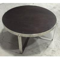 solid wood top stainless steel metal coffee table/side table/side table for hotel furniture TA-0078 Manufactures
