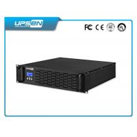 Black Plastic Rack Mount 19 Inch ups with Zero Transfer Time 1kw-10kw Manufactures