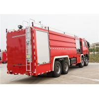 Rear Mounted Pump Airport Fire Truck Low Idle Speed 800rpm Power System Manufactures