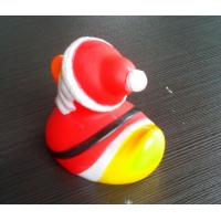 Quality PVC Floating Personalised Santa Rubber Duck / Snowman Shaped Kids Gift for sale